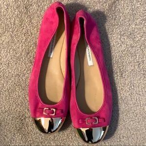 Diane Von Furstenberg Cap Toe Flats